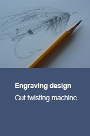 Engraving design for gut twisting machine