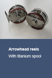 Arrowhead reels with titanium spool