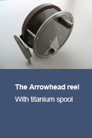 Arrowhead reel with titanium spool