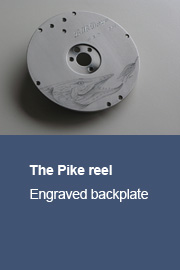 The Pike reel with engraved backplate